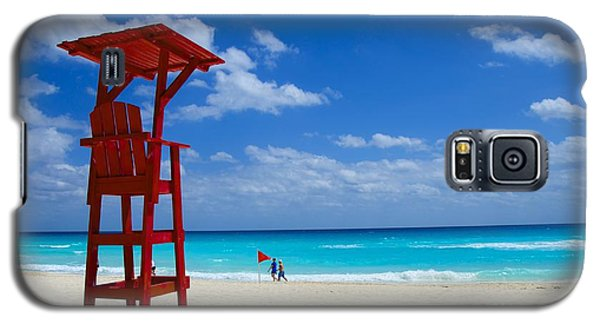 Galaxy S5 Case featuring the photograph Lifeguard Chair  by Sarah Mullin