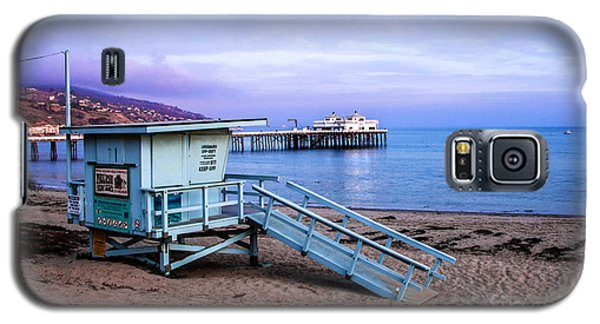 Lifeguard Tower And Malibu Beach Pier Seascape Fine Art Photograph Print Galaxy S5 Case