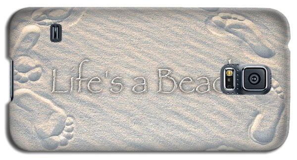 Lifes A Beach With Text Galaxy S5 Case