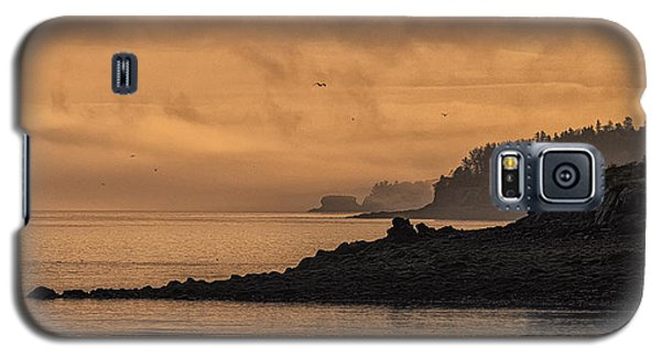 Galaxy S5 Case featuring the photograph Lifting Fog At Sunrise On Campobello Coastline by Marty Saccone