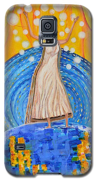 Galaxy S5 Case featuring the painting Lifting The Veil by Cassie Sears