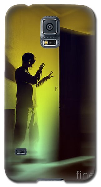 Galaxy S5 Case featuring the photograph Light Behind Door by Craig B