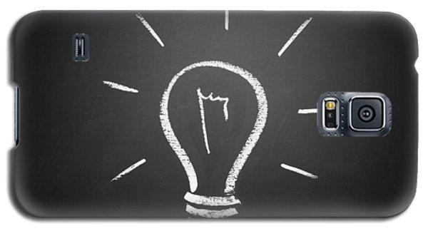 Light Bulb On A Chalkboard Galaxy S5 Case