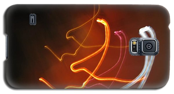 Galaxy S5 Case featuring the photograph Light Drawing. I..i..i... Dancing Lights Series by Ausra Huntington nee Paulauskaite