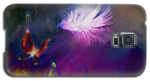 Galaxy S5 Case featuring the painting Light Feather by Lilia D