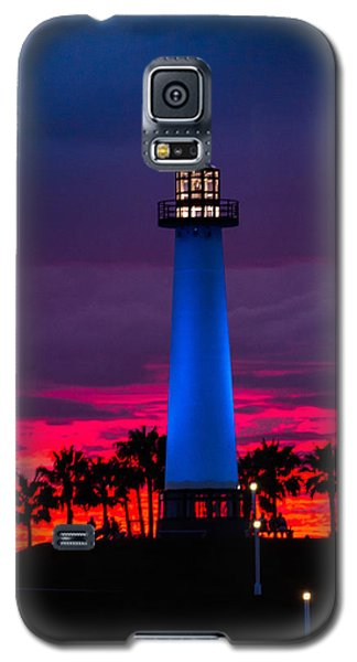 Light House In The Firey Sky Galaxy S5 Case