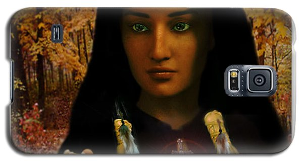 Saint Kateri Tekakwitha Light In The Darkness Galaxy S5 Case by Suzanne Silvir