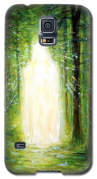 Galaxy S5 Case featuring the painting Light In The Garden by Heather Calderon