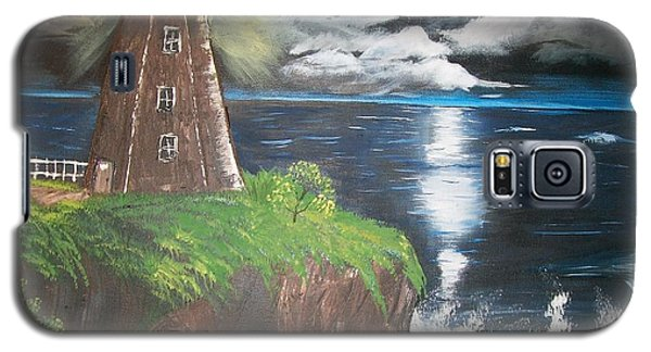 Galaxy S5 Case featuring the painting Light Of The Moon by Sharon Duguay