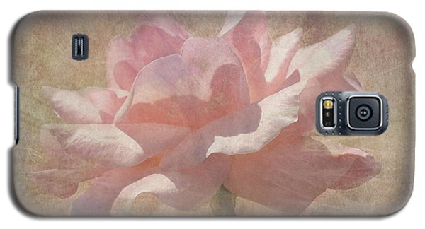 Light Pink Grunge Rose Galaxy S5 Case by Rosalie Scanlon