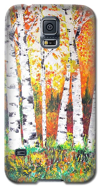 Sunrise On Birch Galaxy S5 Case by Gary Smith