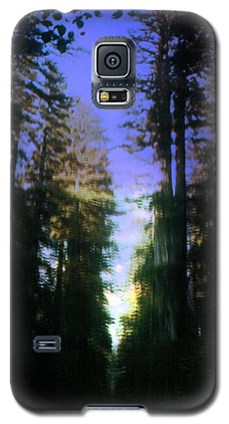 Galaxy S5 Case featuring the digital art Light Through The Forest by Cathy Anderson
