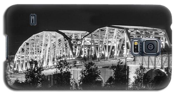 Galaxy S5 Case featuring the photograph Lighted Pedestrian Bridge  by Robert Hebert