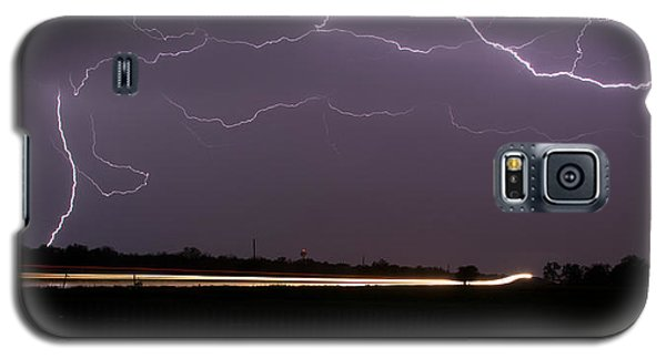 Galaxy S5 Case featuring the photograph Lightening Bolts by Charles Beeler