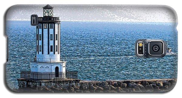 Lighthouse At The Port Of Los Angeles Galaxy S5 Case