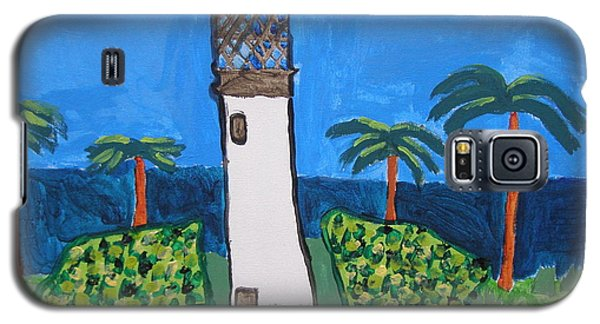 Galaxy S5 Case featuring the painting Lighthouse by Artists With Autism Inc