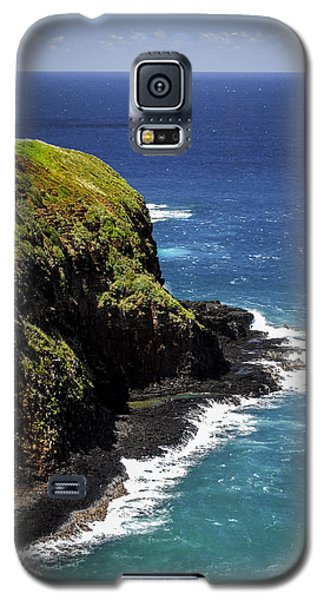 Galaxy S5 Case featuring the photograph Lighthouse By The Pacific by Debbie Karnes