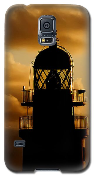 lighthouse dawn in the north coast of Menorca Galaxy S5 Case by Pedro Cardona