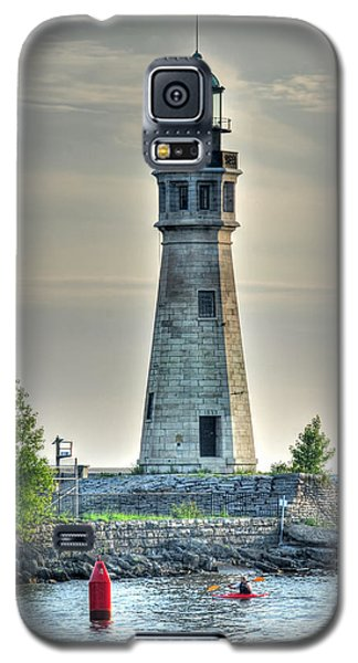 Lighthouse Just Before Sunset At Erie Basin Marina Galaxy S5 Case