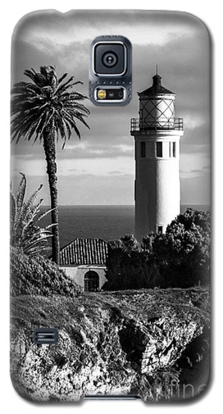 Galaxy S5 Case featuring the photograph Lighthouse On The Bluff by Jerry Cowart