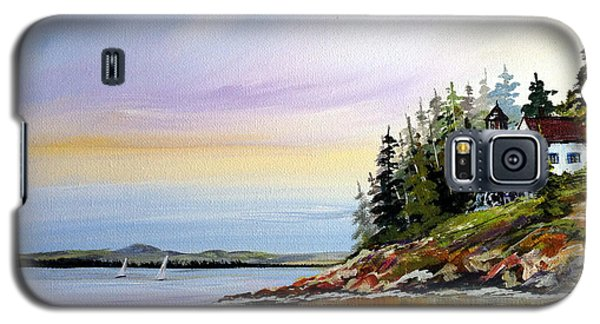 Galaxy S5 Case featuring the painting Lighthouse On The Island by Dorothy Maier