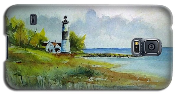 Galaxy S5 Case featuring the painting Lighthouse Sold by Richard Benson