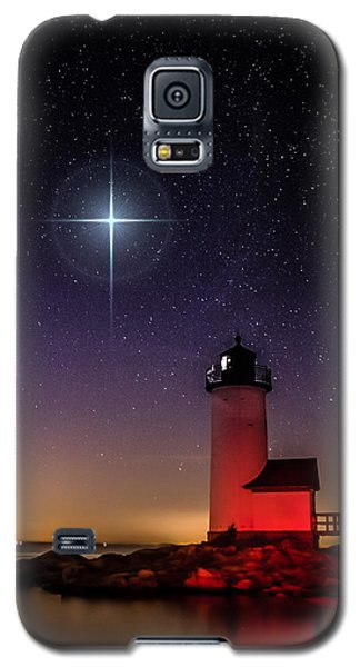 Galaxy S5 Case featuring the photograph Lighthouse Star To Wish On by Jeff Folger