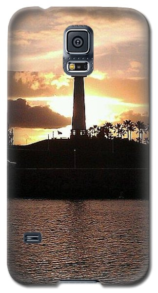 Galaxy S5 Case featuring the photograph Lighthouse Sunset by John Glass