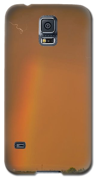 Galaxy S5 Case featuring the photograph Lightning And Rainbow by Rob Graham