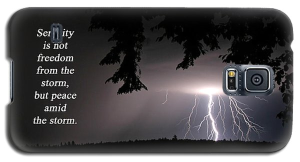 Lightning At Night - Inspirational Quote Galaxy S5 Case by Barbara West
