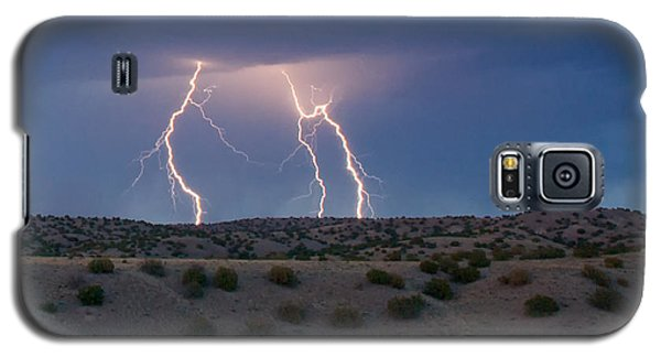 Lightning Dance Over The New Mexico Desert Galaxy S5 Case
