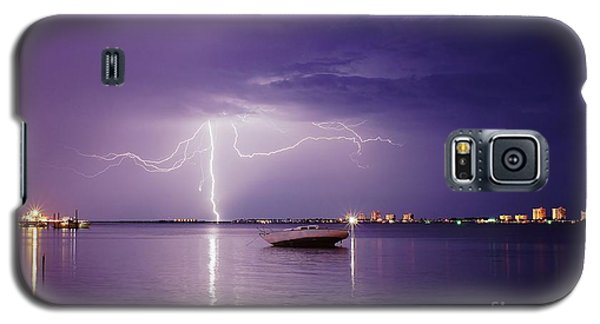 Lightning On The Indian River Galaxy S5 Case by Lynda Dawson-Youngclaus