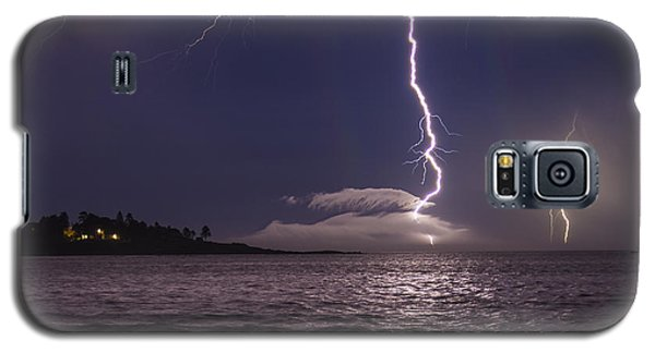 Lightning Over Prout's Neck Galaxy S5 Case