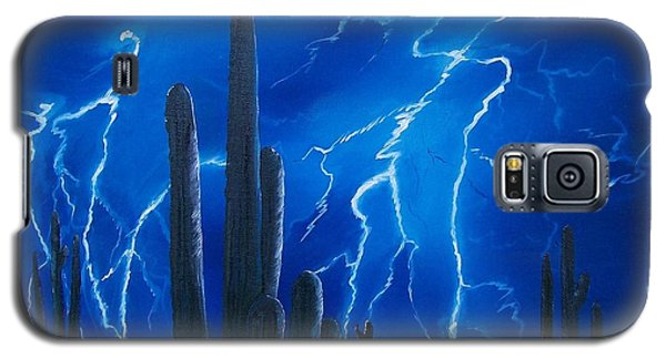 Lightning  Over The Sonoran Galaxy S5 Case