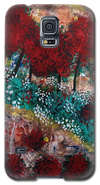 Galaxy S5 Case featuring the painting Lightning. by Sima Amid Wewetzer