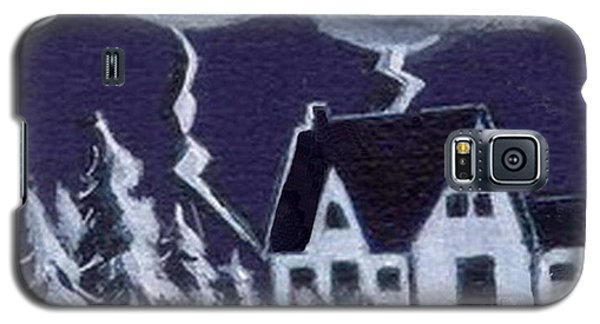Galaxy S5 Case featuring the painting Lightning Strike by Joyce Gebauer
