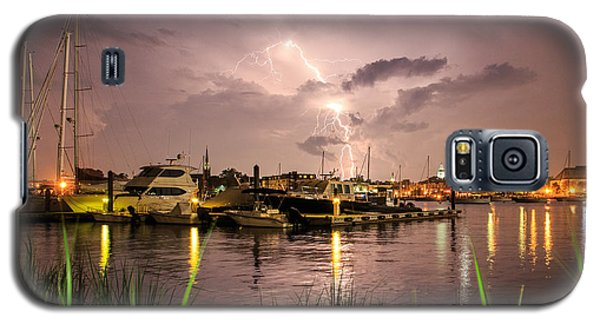 Galaxy S5 Case featuring the photograph Lightning Strikes Annapolis by Jennifer Casey
