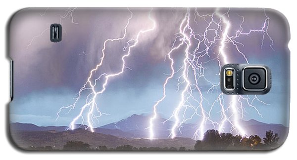 Lightning Striking Longs Peak Foothills 4c Galaxy S5 Case