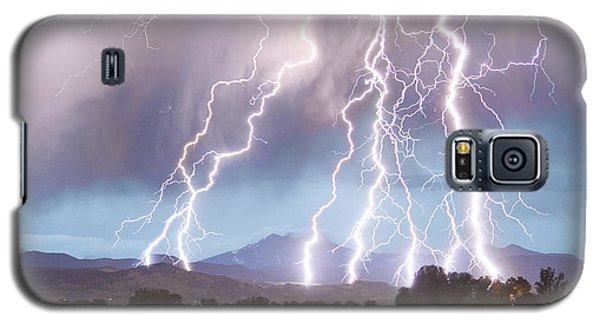 Lightning Striking Longs Peak Foothills 4c Galaxy S5 Case