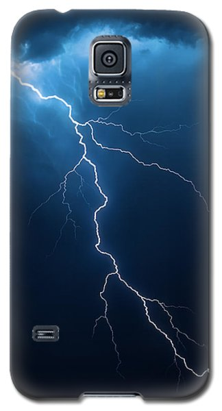 Lightning With Cloudscape Galaxy S5 Case