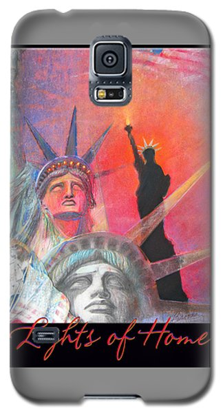 Lights Of Home - Pastel-mixed Media - Artwork Galaxy S5 Case