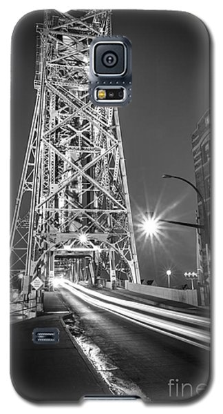 Galaxy S5 Case featuring the photograph Lightspeed Through The Lift Bridge by Mark David Zahn