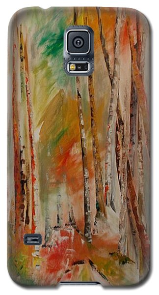 Galaxy S5 Case featuring the painting Like The Trees Always Looking Up by PainterArtist FIN