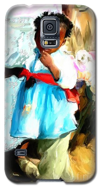 Galaxy S5 Case featuring the painting Lil Girl  by Vannetta Ferguson