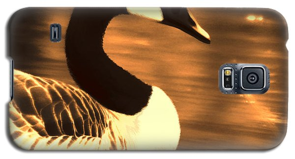 Lila Goose The Pond Queen Sepia Galaxy S5 Case by Lesa Fine