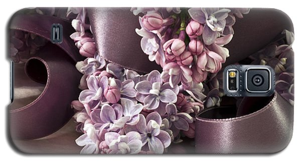 Lilac And Ribbon Curls Galaxy S5 Case