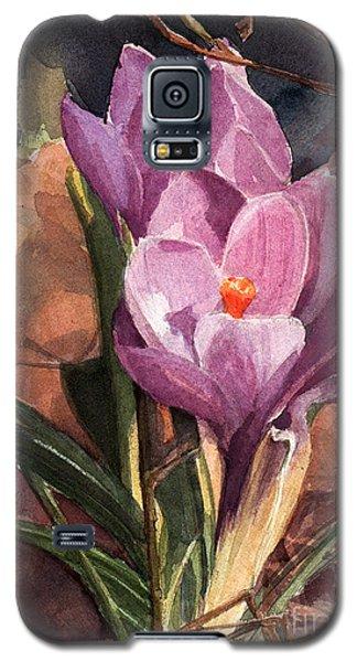 Lilac Crocuses Galaxy S5 Case