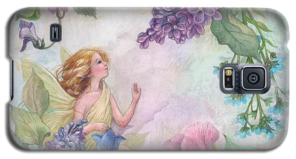 Galaxy S5 Case featuring the painting Lilac Enchanting Flower Fairy by Judith Cheng