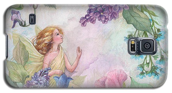 Lilac Enchanting Flower Fairy Galaxy S5 Case by Judith Cheng