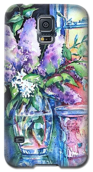 Galaxy S5 Case featuring the painting Lilac Light by Trudi Doyle